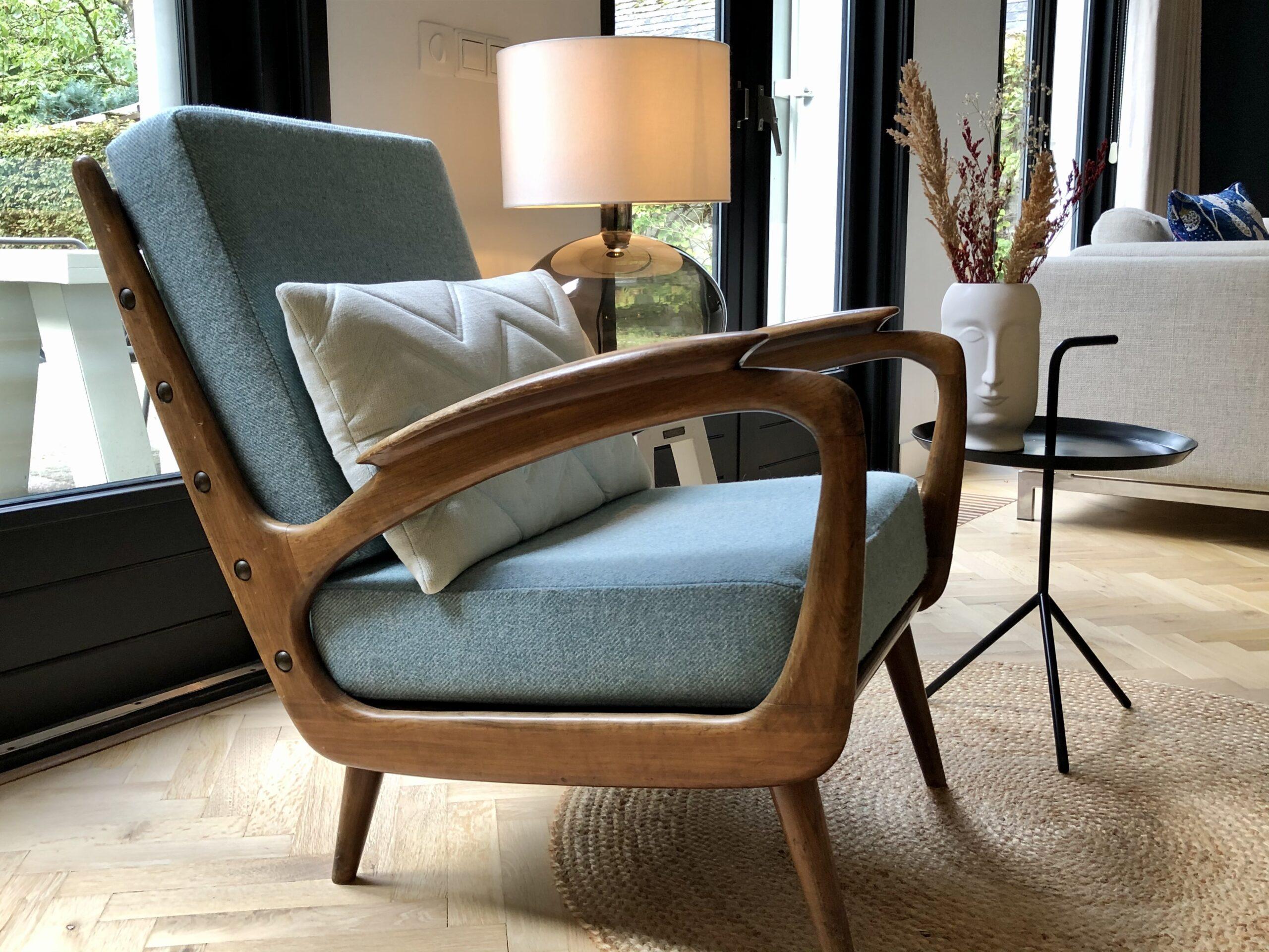 fauteuil nieuwe kussens