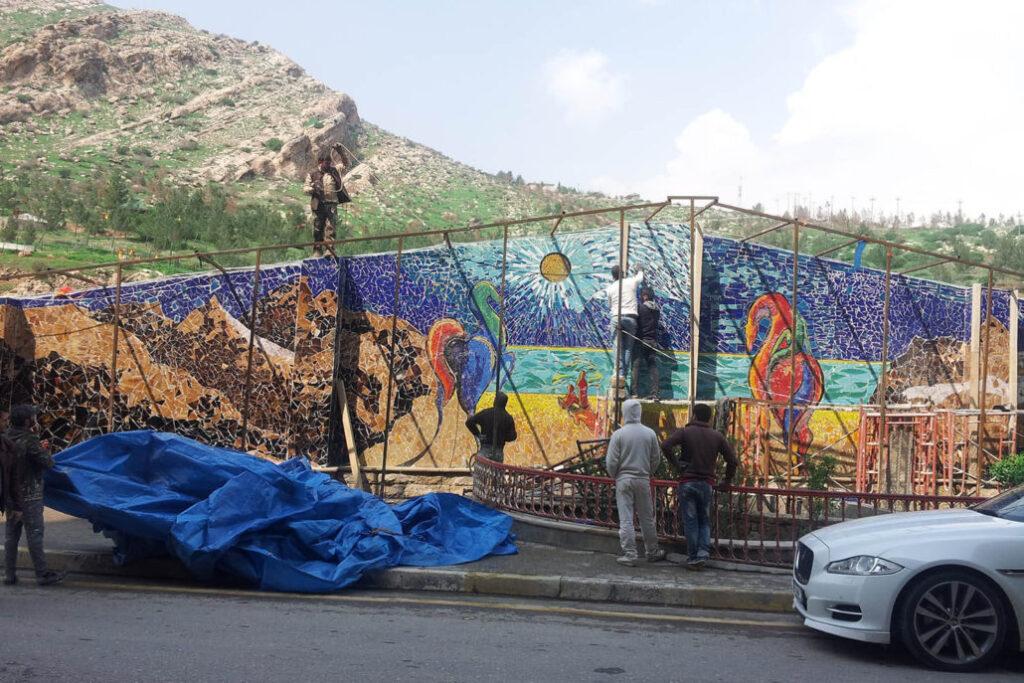 mozaiek muur