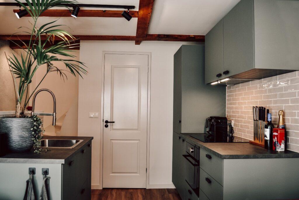 groen grijze keuken